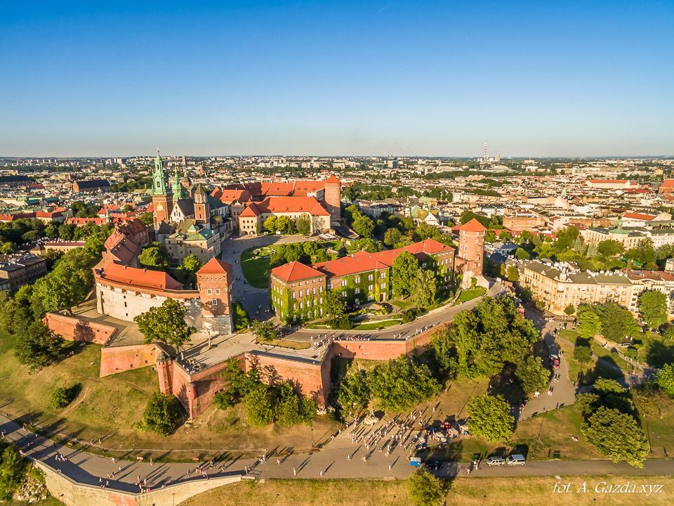 Zamek na Wawelu - widok z lotu ptaka