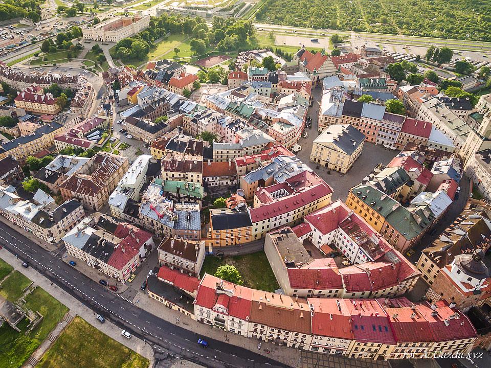 Stare miasto i trybunał koronny - Lublin z lotu ptaka