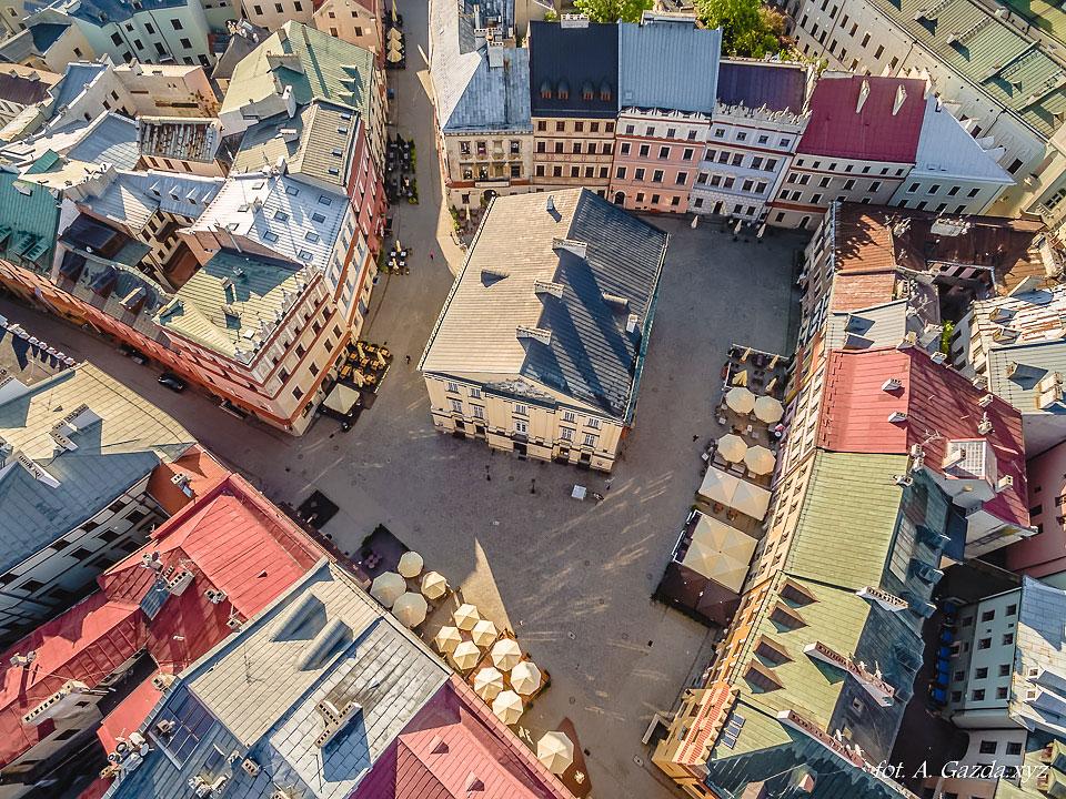 Stary trybunał Koronny - Lublin z lotu ptaka
