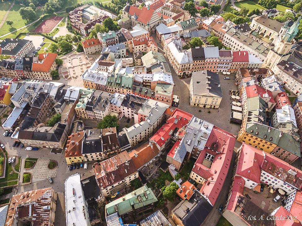 Stare miasto - Lublin z lotu ptaka
