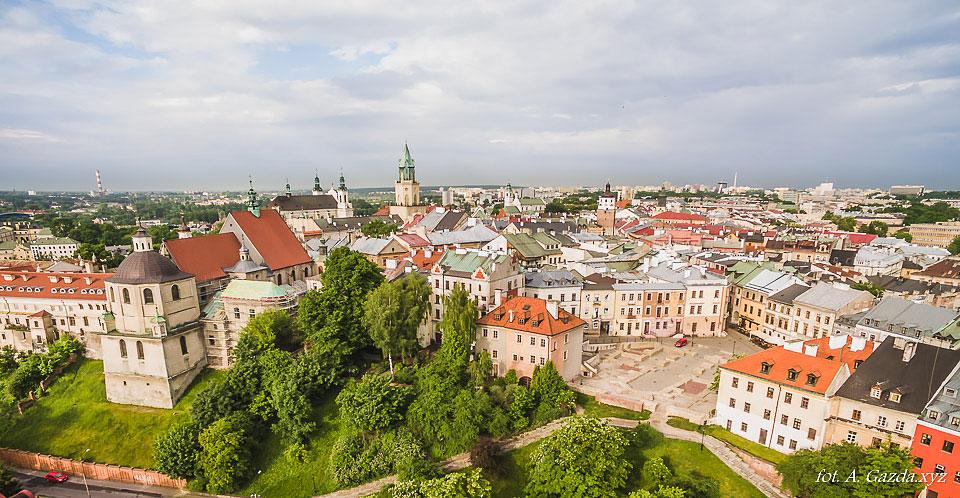 Plac Po Farze - Lublin z lotu ptaka