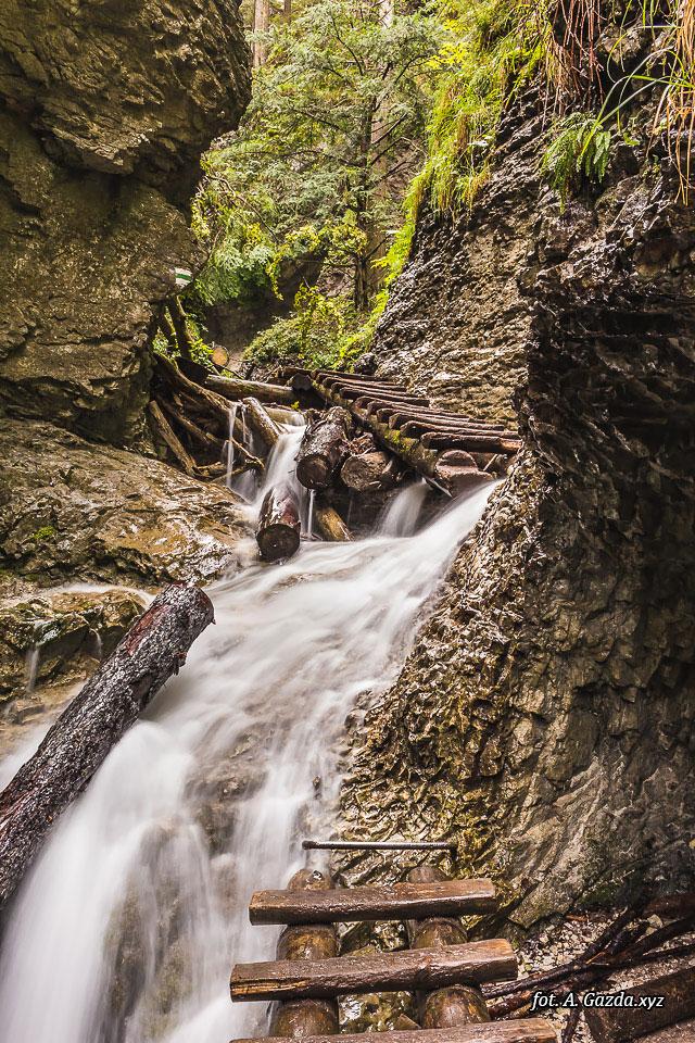 Wąwóz Suchá Belá wodospad