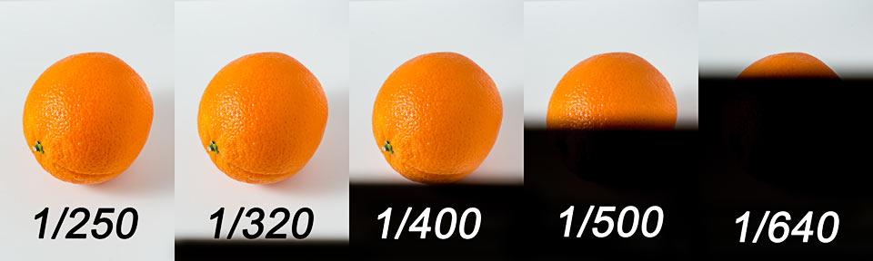 efekt przekroczenia czasu synchronizacji z błyskiem
